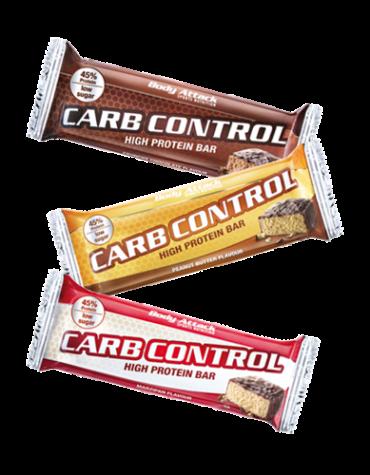 body attack carb control proteinbar 500